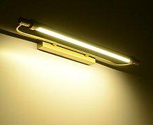 TYDXSD Amerikanische retro LED Spiegel leuchtet Europäischen minimalistischen Bad Badezimmer Spiegel Leuchten Spiegel Schrank Licht wasserdicht Kupfer Lampen 540/660 * 120 mm , s 54cm , white