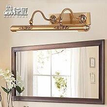 TYDXSD Amerikanischer Prägung warm weiß led Spiegel Lichter Vintage Schminktisch Spiegel Bad Badezimmer Spiegel Schrank Licht Scheinwerfer wasserdicht Nebel 600 * 210mm