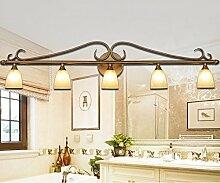 TYDXSD Badezimmer, WC, Spiegel SCHLAFZIMMER Lampe vorne Amerikanische dicke Continental wandspiegel spiegelschrank Licht Scheinwerfer