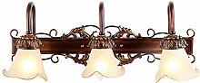 TYDXSD E14 Lampe kontinentalen pastorale American pastoral Make-up Bad Badezimmerspiegel Schrank Beleuchtung Schrank Beleuchtung 545 * 220mm