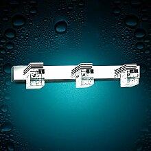 TYDXSD Einfache Weise Spiegel Leuchten led Bad Badezimmer Spiegel leichte Feuchtigkeit Nebel-Kristallwand Licht Edelstahl Spiegel Schrank Licht , 2 head