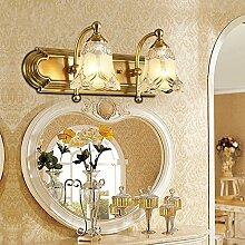TYDXSD Europäische spiegel lampe amerikanischen Kupfer Badezimmer Badezimmer Spiegel Lampen leuchten Spiegel Spiegel Spiegel Tisch vintage Anzeigelampe leuchtet.