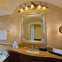 TYDXSD Europäische vintage Schmiedeeisernes spiegel spiegel lampe Nachttischlampe Licht im Flur Flur Badezimmer Beleuchtung Ideen amerikanischen Dorf kunst glas Lampen