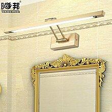 TYDXSD Europäischen Stil Badezimmer Beleuchtung led Schrank Beleuchtung Bad Feuchtraum-macht retro American-weite Spiegel Frontleuchte Wandlampe 560 * 140mm , Warm white
