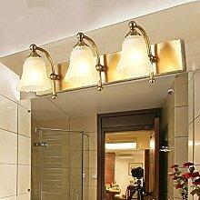 TYDXSD Im europäischen Stil Badezimmer Spiegel led leuchten American vintage Kupfer Bad einfache Kommode spiegel Lampe Wandleuchte,B