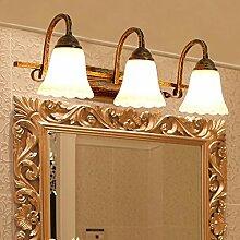 TYDXSD Kontinentale Badezimmer Spiegel Beleuchtung LED E14 Bad Schminktisch einfachen Make-up Spiegel Schrank licht lighting 480 * 260 * 180 mm