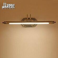 TYDXSD Kontinentale wasserdichte LED-Schminkspiegel verwenden Lichter Lampe retro Spiegel Badezimmer Schrank Spiegel Schrank amerikanischen Stil Schminktisch Spiegel Lampe Licht , Large
