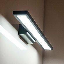 TYDXSD Kreative Mode Spiegel Schrank Licht Lampe Einfache Badezimmer Badezimmer Schlafzimmer Led Wasserdicht Nebel Feuchtigkeitsbeständig Spiegel Wandleuchte 400/600 * 40 * 80 Mm ,Black -60Cm- White 12W