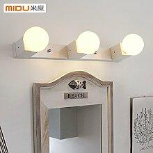 TYDXSD Kreative Mode Spiegel Schrank Licht Lampe Einfache Badezimmer Badezimmer Schlafzimmer Led Wasserdicht Nebel Feuchtigkeitsbeständig Spiegel Wandleuchte 450 * 50 * 80 Mm ,White