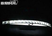 TYDXSD LED Crystal Spiegel Beleuchtung Bad Badezimmer Spiegel Schrank Licht wasserdicht Luxury westlichen Stil minimalistischen Spiegel Wandleuchte Wandleuchte 440/540 * 60 mm , 54cm white 15w