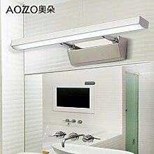 TYDXSD LED Lichter Badezimmer moderne minimalistische Edelstahl wasserdicht Anti-fogging Badezimmerspiegel Beleuchtung Lampen 520 * 50mm