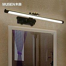 TYDXSD LED Spiegel Lichter wasserdichte rostbeständiger Badezimmer Spiegel Schrank helles Tageslicht-Bad Licht amerikanischen Stil moderner Luxus 450/580/750 * 88 * 180 mm , 750mm