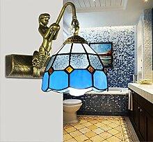 TYDXSD Östliches Mittelmeer im spiegel lampe Retro Stil Badezimmer Spiegel leuchten led leuchten Spiegel Badezimmer Badezimmer, EIN