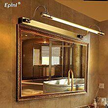 TYDXSD Retro led amerikanischen kontinentalen Badezimmer Spiegel Lichter Spiegel Lampe einfache Badezimmer Beleuchtung Spiegel Schrank Licht 540/680 mm * 180 mm , l 68cm , Warm white
