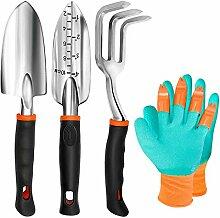 TYHJOY Gartenwerkzeug-Set, 4 Stück, robuste