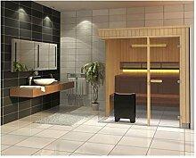 Tylö Sauna Evolve Espe GC 219,5 x 219,5 x 210 cm mit Glasfron