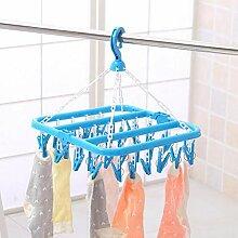 TYOLOMZ 32 Clips Klapp Socken Kleiderbügel Rack