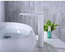 TYOLOMZ Bad Becken Wasserhahn Weiß Sprühfarbe