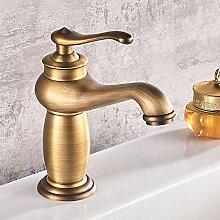 TYOLOMZ Bad Wasserhahn Antike Bronze Massivem