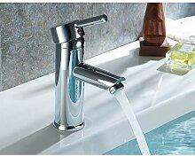 TYOLOMZ Einhand-Waschtischarmatur Chrom Wasserfall