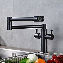 TYOLOMZ Klappbar mit 360-Auslauf Küchenarmaturen