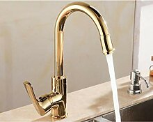 TYOLOMZ LuxusGold Swivel Küchenarmatur Bad