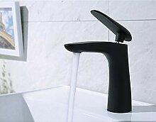 TYOLOMZ Messing schwarz Waschbecken Wasserhahn