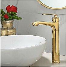 TYOLOMZ Waschtischarmaturen Gold Bad Wasserhahn