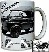 Typ 166 Schwimmwagen Fahrzeug KfZ Kübelwagen WK 2 Oldtimer Militär Geländewagen Foto - Tasse Becher Kaffee #9141