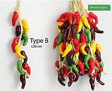 Typ B Kunststoff-Gemüse Chili Obst Serie