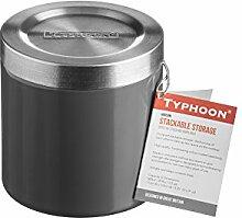 Typhoon Hudson Stapeln, Küche Vorratsdose, Edelstahl, Grau, 11cm