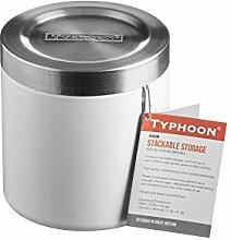 Typhoon Hudson Stapeln Küche Vorratsdose, Edelstahl, Weiß, 11cm