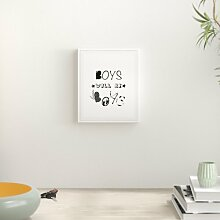 Typografische Kunst Boys Will Be Boys Nursery East