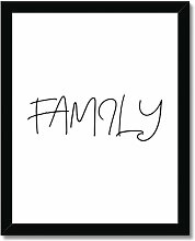 Typografischer Kunstdruck Family Brayden Studio