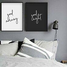 Typografischer Kunstdruck Good Morning Good Night