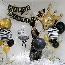 Tyro Big Gold Crown Luftballons Hochzeit Happy