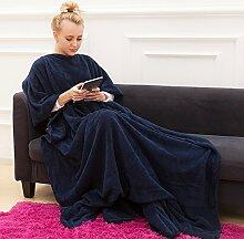 TYXQ Decke mit Ärmeln,Wohnzimmer Kuscheldecke,