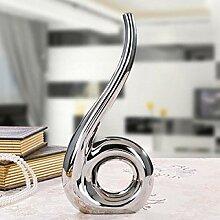 TZHP Kreative Silber goldene Vase Dekor Moderne