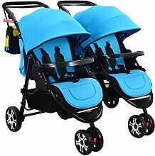 TZQ Doppel-Kinderwagen Doppel-Buggy-Kinderwagen