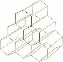 TZSHUQ Honeycomb Wine Rack Eisen Lagerregal