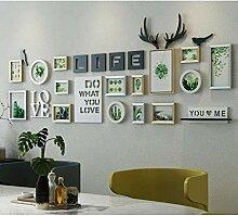 TZZ Bilderrahmen Collage Englisch Alphabet