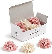 U Brands Mini-Blumenmagnete, Bürobedarf, Pink und