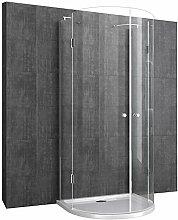 U-Duschkabine Duschtasse & Ablaufgarnitur 100x100