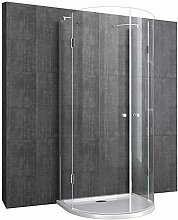 U-Duschkabine mit Duschtasse & Ablaufgarnitur