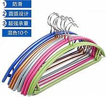 u-emember abriebfeste, rutschfeste Kleiderbügel Kleiderbügel Kleidung Polen Erwachsene Trocknen Racks Home Irak socks-impregnated Kunststoff Kleidung Rack Zugentlastung, 10, halbrunde Farbe mischen