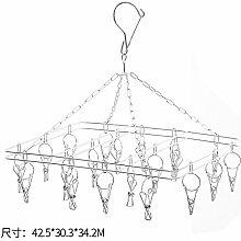 U-emember All-Solid Edelstahl Wind Clip Hanger Balkon Wäscheständer Multi-Clip Unterwäsche Socken Clip Rack Kleiderbügel, einer Der Typ 20 Clips