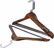 U-emember Das Hotel ist ein 10-Pack Kleiderbügel aus Holz Kleiderbügel aus Holz Schrank für Kleidung Pole Home Antike hölzerne Hosenbügler, 10, 38 cm Holz Farbe Frauen Anti-Slip mit Querstange