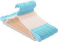U-emember Schulter Non-Marking Wäscheständer Dicke in die zivile Verteidigung Slip Bügel Kunststoff Kleiderbügel Home Kleiderschrank Kleiderständer Kleiderbügel, 20, Blau aus Kunststoff
