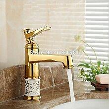 U-Enjoy Goldener Badezimmer-Hahn-Hochwertiger