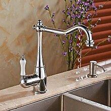 U-Enjoy Kronleuchter Wasser-Hahn-Badezimmer-Bassin